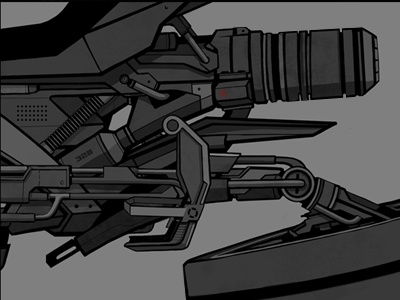 Hovercycle Detail motorcycle hovercycle vehicle concept mech cyberpunk comics novel graphic design illustration