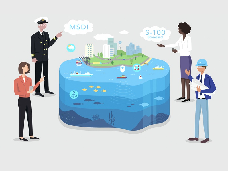 MSDI Presentation Graphic infographic information character illustraion