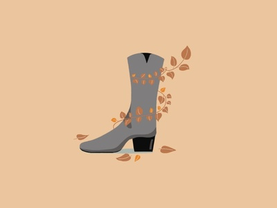 Stepping Into The Boots Season fashionillustration design los angeles color fashion boots winter fall flat illustration illustration