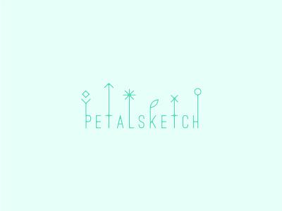Petal Sketch sketch blue petals petal logo line