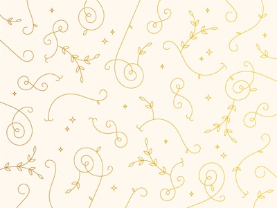 IDK pattern gold star stars christmas wedding gold foil curly leaves flourishes flourish