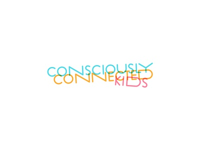 Consciously Connected Kids sexual abuse fun logo blue kids conscious consciously connected