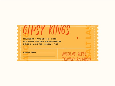 Gipsy Kings admit red yellow gipsy kings concert ticket coupon