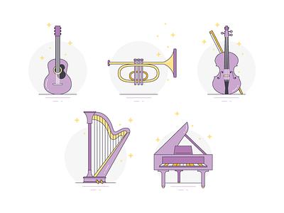 Icon - Music Instrument instrument music icon illustration
