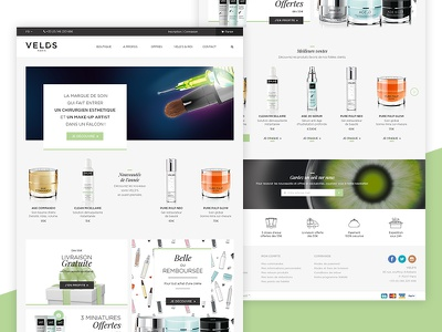 Web Design - VELD'S e-commerce cosmetics home webdesign
