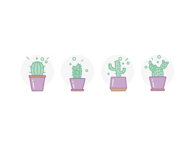 Icon - Cactus green cactus illustration icon