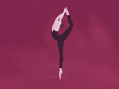 Illustration - Dancer dancing drawing illustration