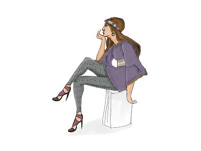 Illustration - Woman texture woman drawing illustration