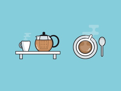Icon - Morning coffee tea morning illustration icon