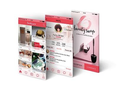 UX/UI design - Beauty Swap beauty application design ui ux