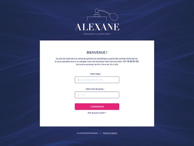 Web design - Login perfume shop login webdesign