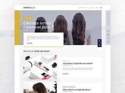 Web Design - Blog blog homepage webdesign