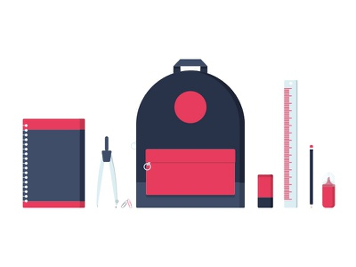 Icon - School school illustration icon