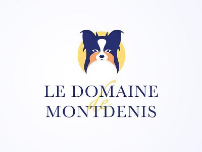 Logo - Le Domaine de Montdenis identity design dog illustration logo