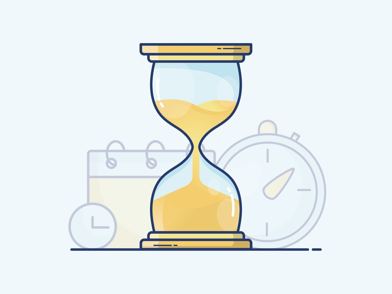 Icon - Time vector drawing icon illustration