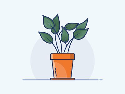 Icon - Plant green drawing icon illustration