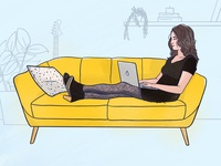 Illustration - Me in my living room