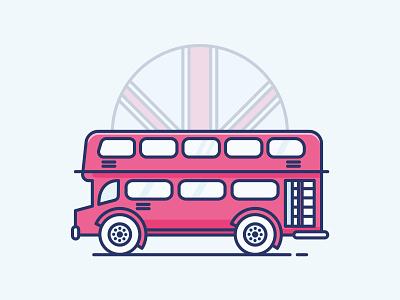 Icon - London flat london vector drawing design icon illustration