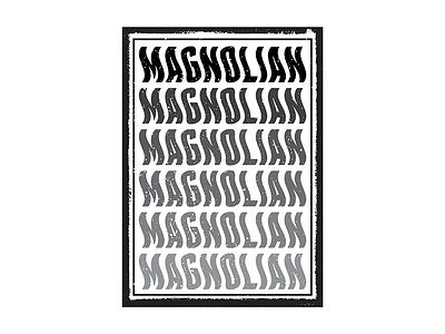 Magnolian T- Shirt Design graphic design t-shirt design texture vintage poster design poster t shirt