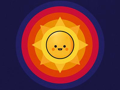 HAPPY SUN vector illustration sun