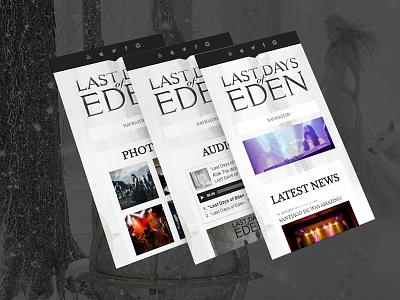 Responsive web design for Last Days of Eden cms band music skin theme wordpress ui ux mobile responsive web design