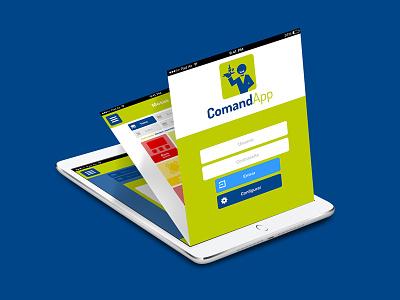 UI / UX mockups design for CommandApp flat course mobile interface app restaurant waiter ipad prototype mockup ux ui