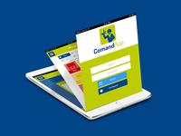 UI / UX mockups design for CommandApp