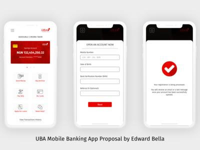 UBA Mobile Banking App Proposal - Screen 2