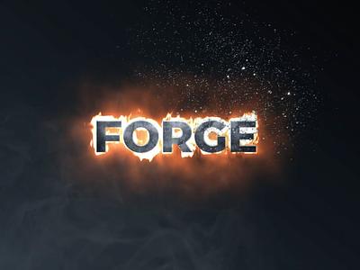 Logo Forge fire logo after effects saber particular metal forge logo design motion fire logo animation logo