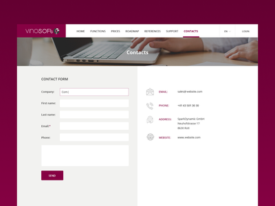 Webpage Design ux contacts uiux ui website design