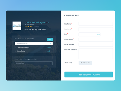 Create profile medical profile register doctor ui design design ux uiux ui