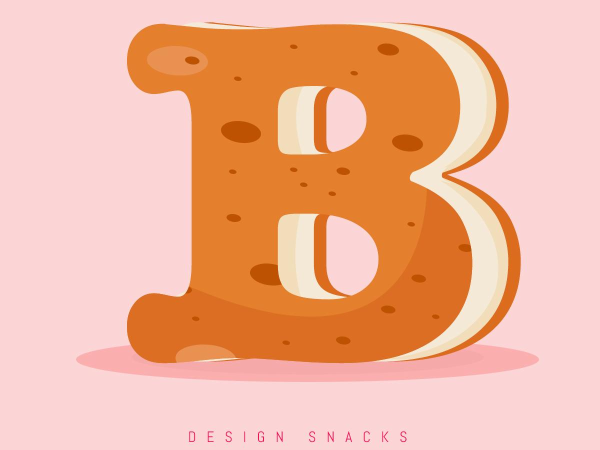 Letter B illustration 36daysoftype design typography