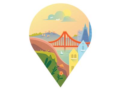 San Fransisco Location Pin