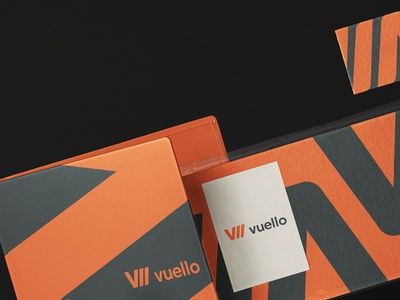 Vuello typography design logo branding