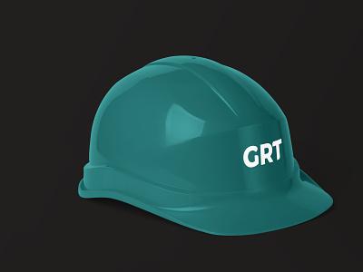 GRT typography logo design branding