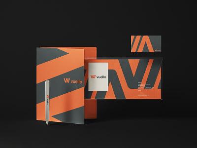 Vuello typography logo design branding