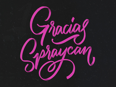 Gracias Spraycan debut photoshop calligraphy graphic design type digital lettering lustfortype
