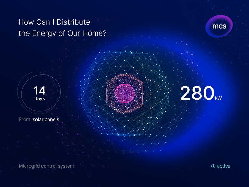 AI Interface for Home. Microgrids and Energy. smarthome smart home app decentralized energy network microgrid control system renewable energy eco energy machine learning solar panels solar energy ecosystem smart home iot internet of things microgrids blockchain neural network artificial intelligence
