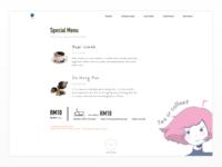 Cafe menu concept