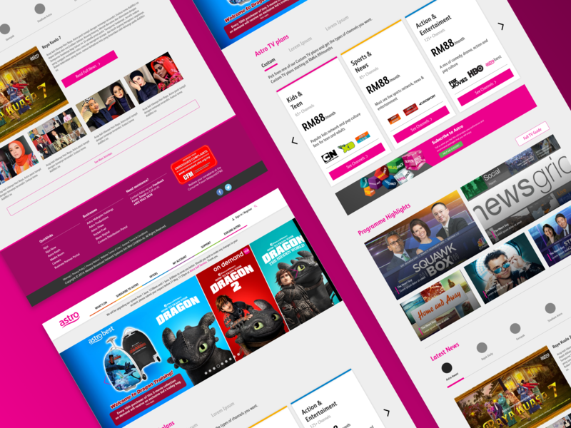 Astro Redesign Concept clean landing page web design user interface uiux ui design ux ui design
