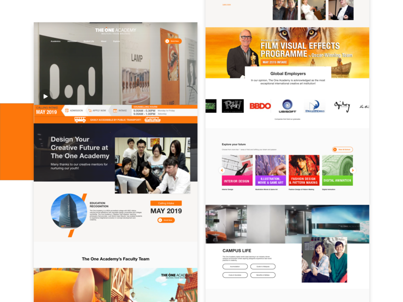 The One Academy Website Redesign Concept By Jeffery Tan On Dribbble