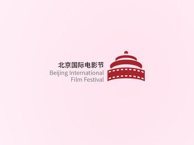 Fan made logo for Beijing International Film Festival beijing 北京 电影节 北京国际电影节 film film festival 天坛 thetempleofheaven logo 2d logo bjiff fan-art fanart