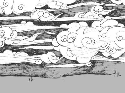 Run,Black,Run pen hand drawing illustration