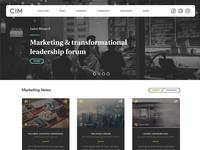 CIM homepage redesign
