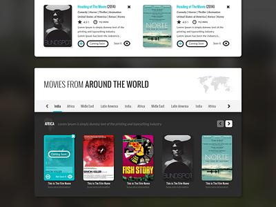 Filmdoo world cinema web interface ui films movies cinema