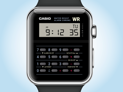 Casio Watch app illustrator 100days calculator retro ui watch