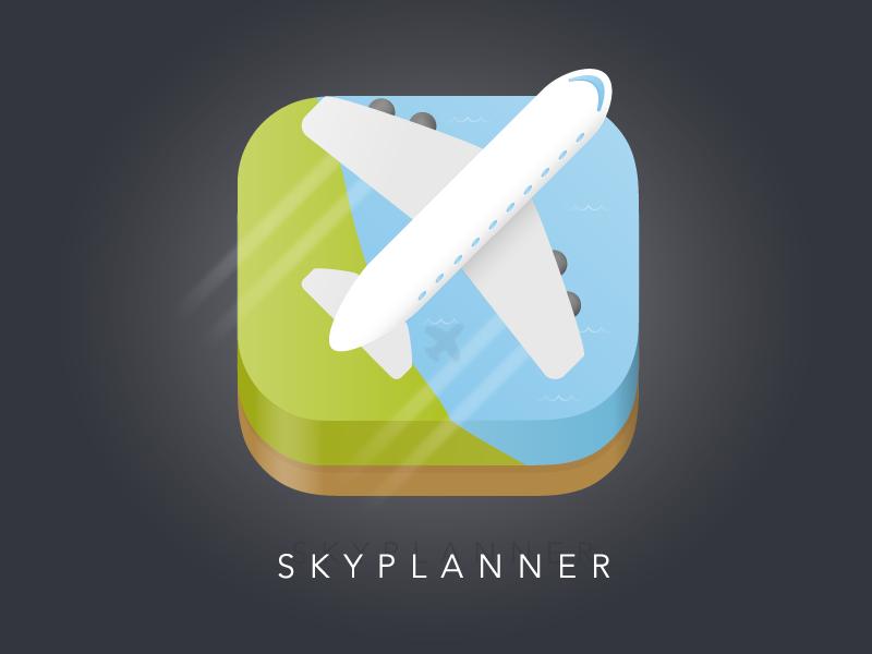 Flight Planner App Icon illustration ui plane flight illustrator icon app 005 100days