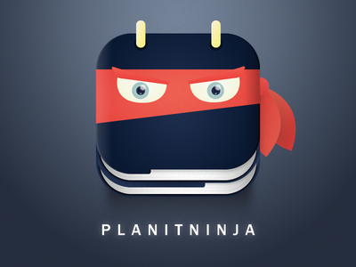 Planit Ninja logo illustrator ninja icon app