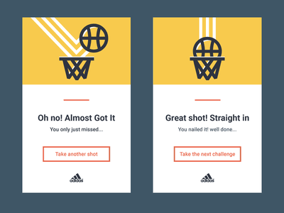 Success and fail cards illustrator miss shot basketball fail success 011 dailyui