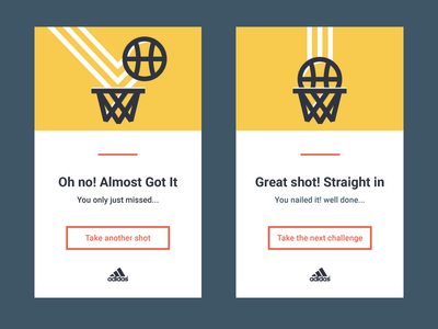 Success and fail cards illustrator miss shot basketball fail success 011 dailyui
